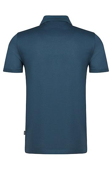 Unifarbenes Poloshirt aus reiner Baumwolle: 'Pack', Türkis