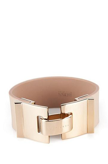 Armband aus Leder: 'Grace Bracelet', Hellbeige