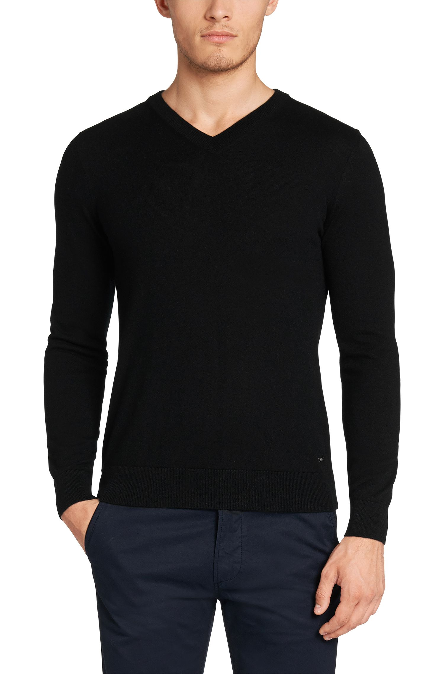 Pull Regular Fit en cachemire : « T-Ettore »