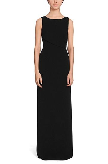 tailliertes langes kleid mit r ckenausschnitt 39 daling 39 schwarz. Black Bedroom Furniture Sets. Home Design Ideas