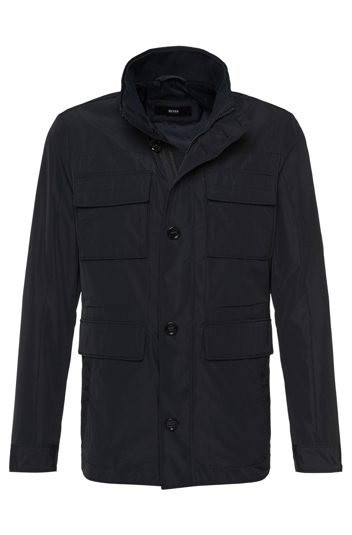 Unifarbene Jacke mit großen Taschen: 'Calasso1'