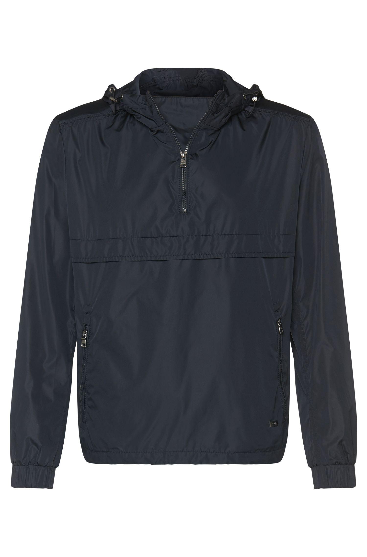 Unifarbene Pullover-Jacke mit Kapuze: 'Cosven'