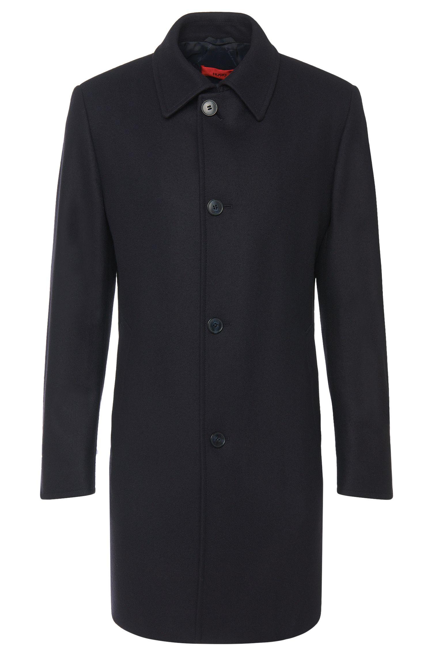 Regular-fit mantel van een scheerwolmix: 'C-Task'