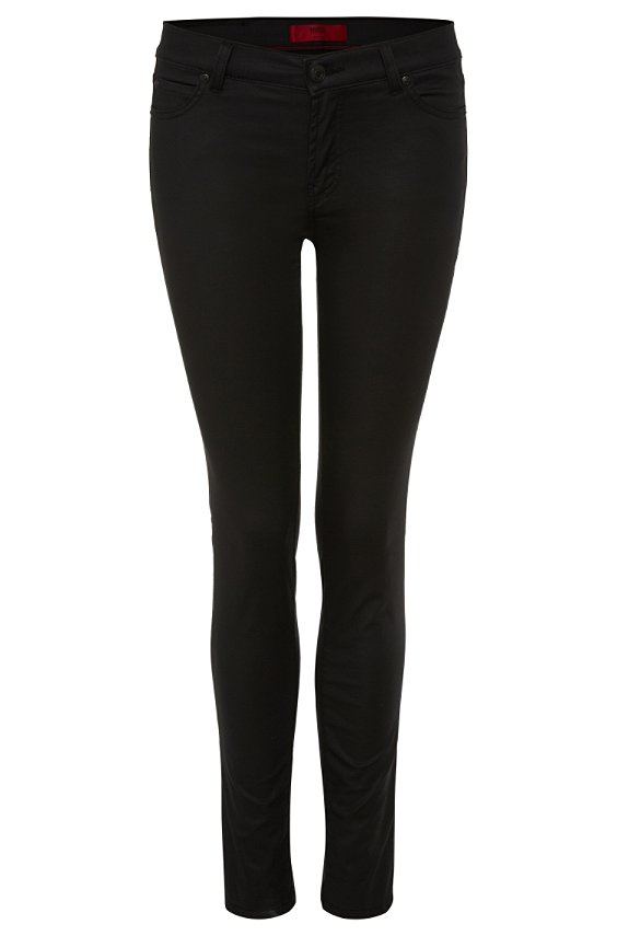 Super-skinny-fit cotton-blend jeans: 'Georgina', Black