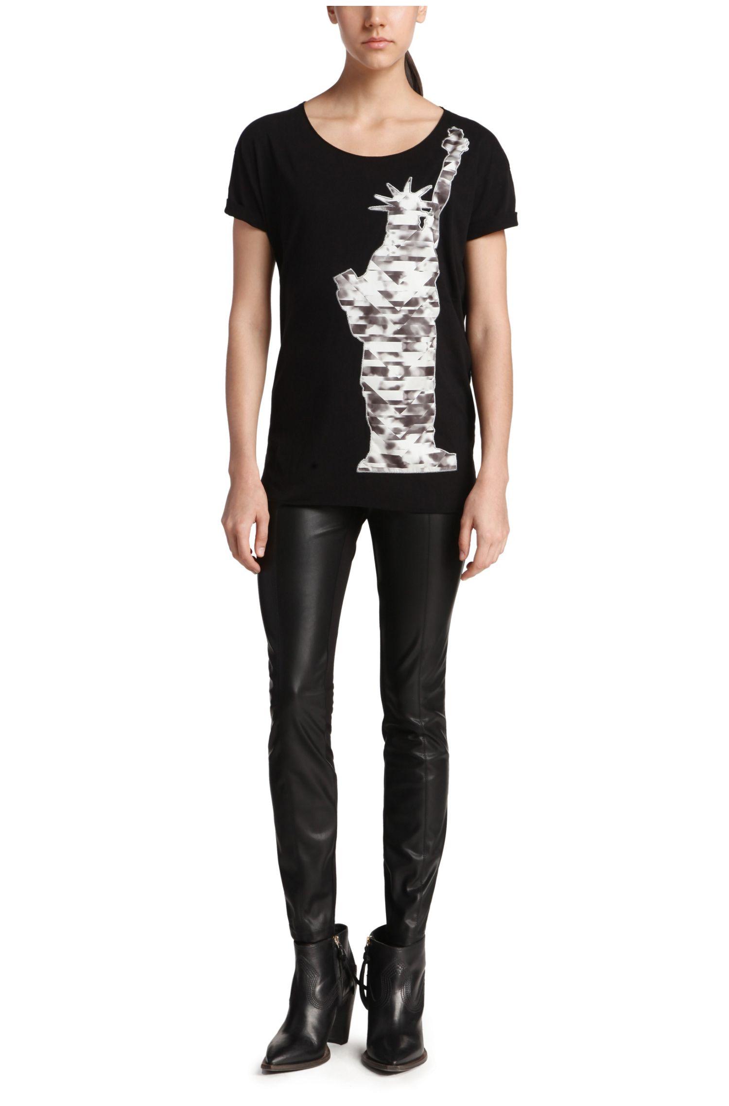 Regular-Fit T-Shirt aus Baumwolle mit Print: Talmay