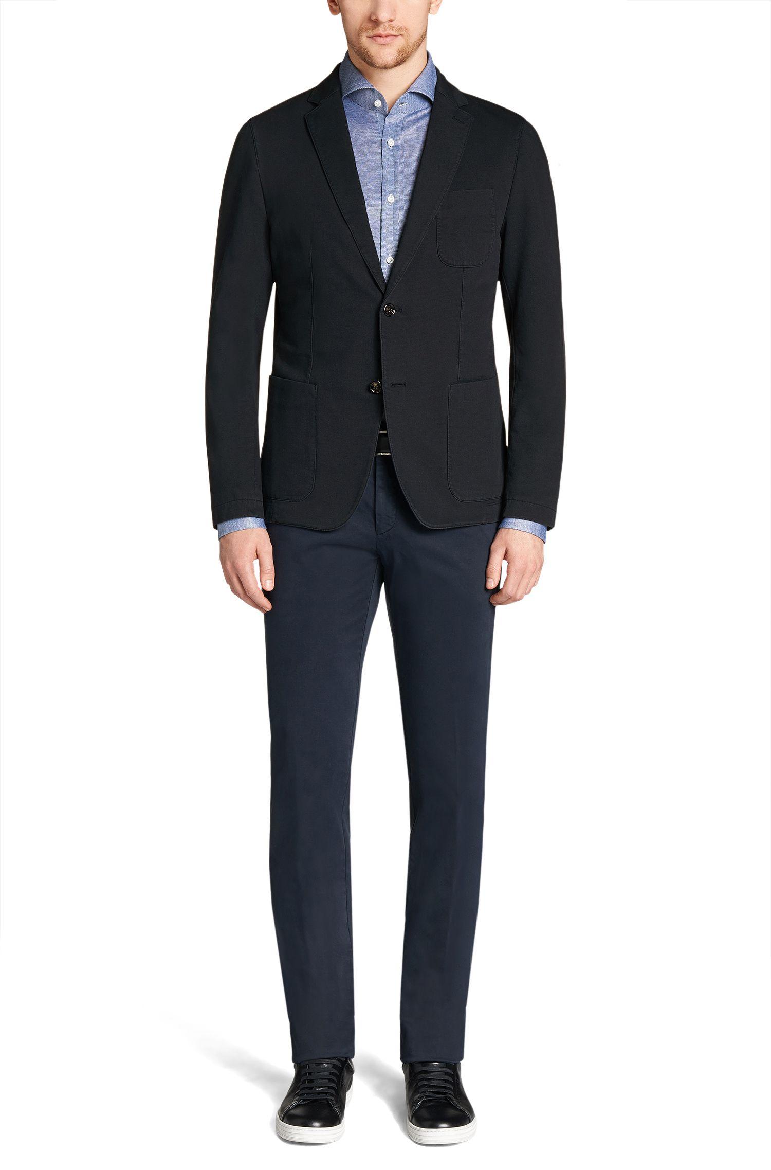 Veste de costume Slim Fit en coton stretch: «Marcoz16-D»
