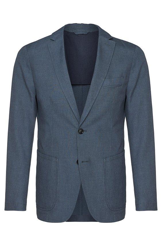修身纯棉夹克外套:'Marcoz12-W', 021_暗灰色