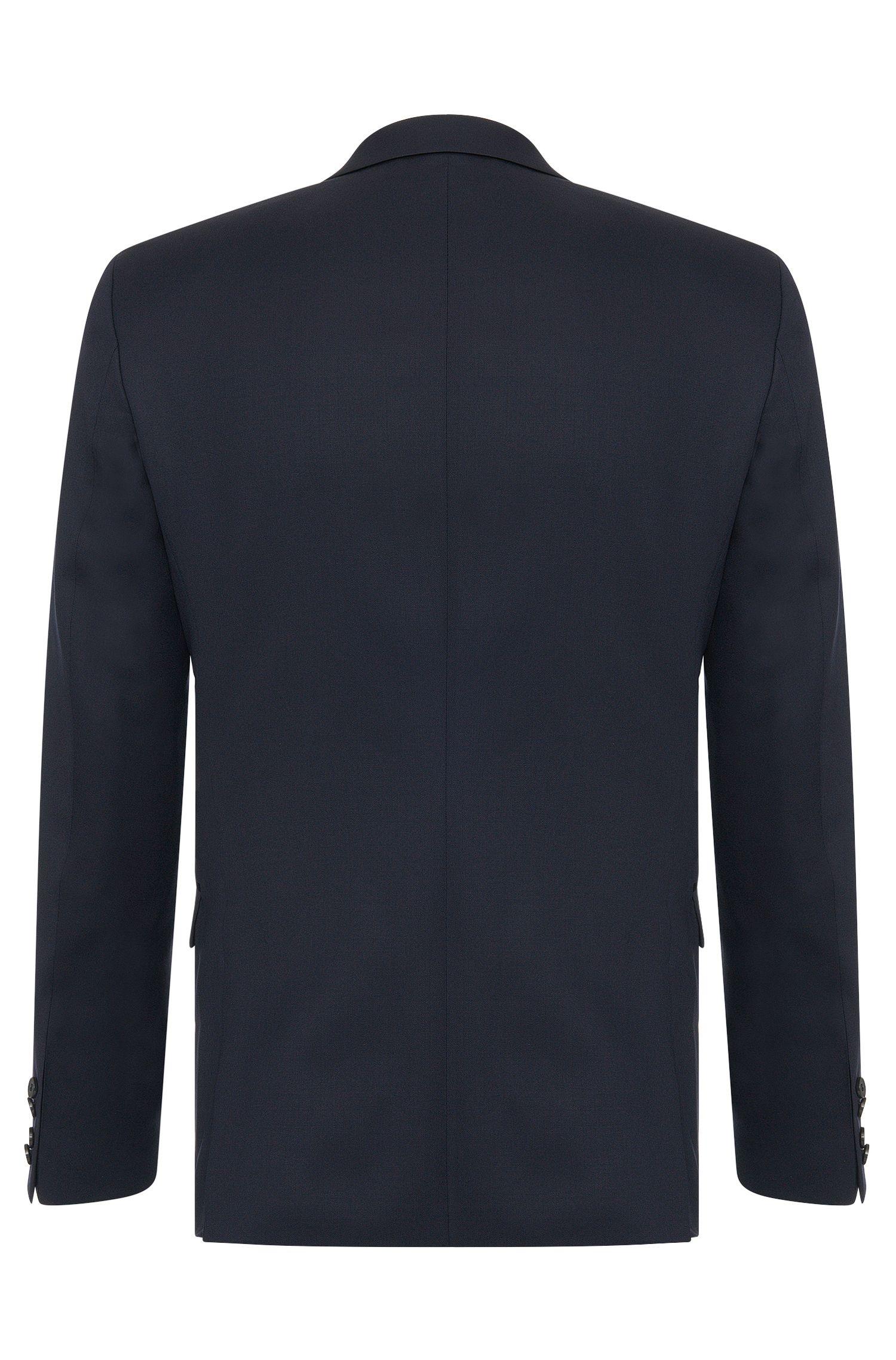 Extra-Slim-Fit Anzug aus Schurwolle in Superblack/Supernavy-Qualität: 'Adris4/Heibo3'