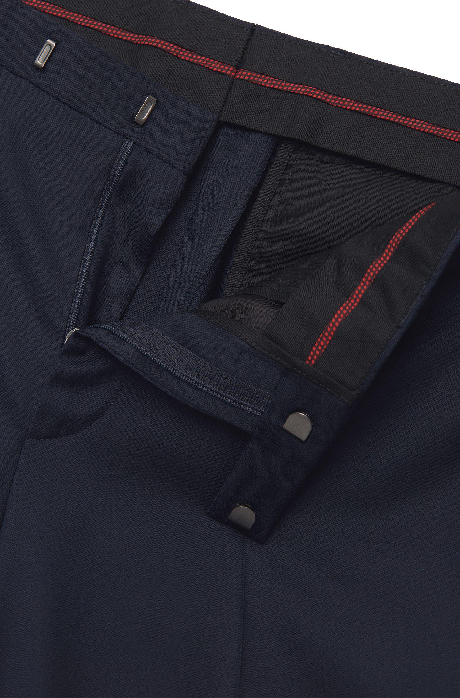Costume Extra Slim Fit en laine vierge de qualité Superblack/Supernavy: «Adris4/Heibo3»