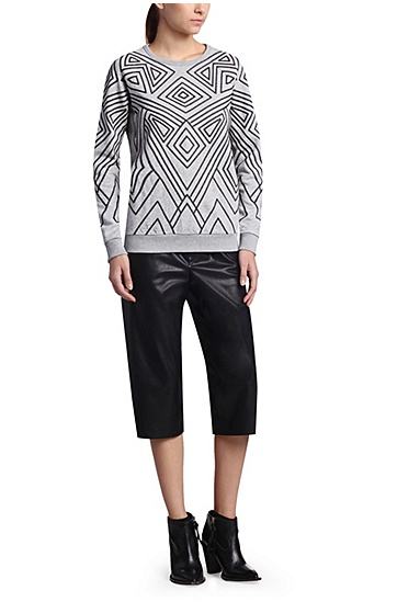 Dekorierter Regular-Fit Sweater: ´Ticonic`, Grau