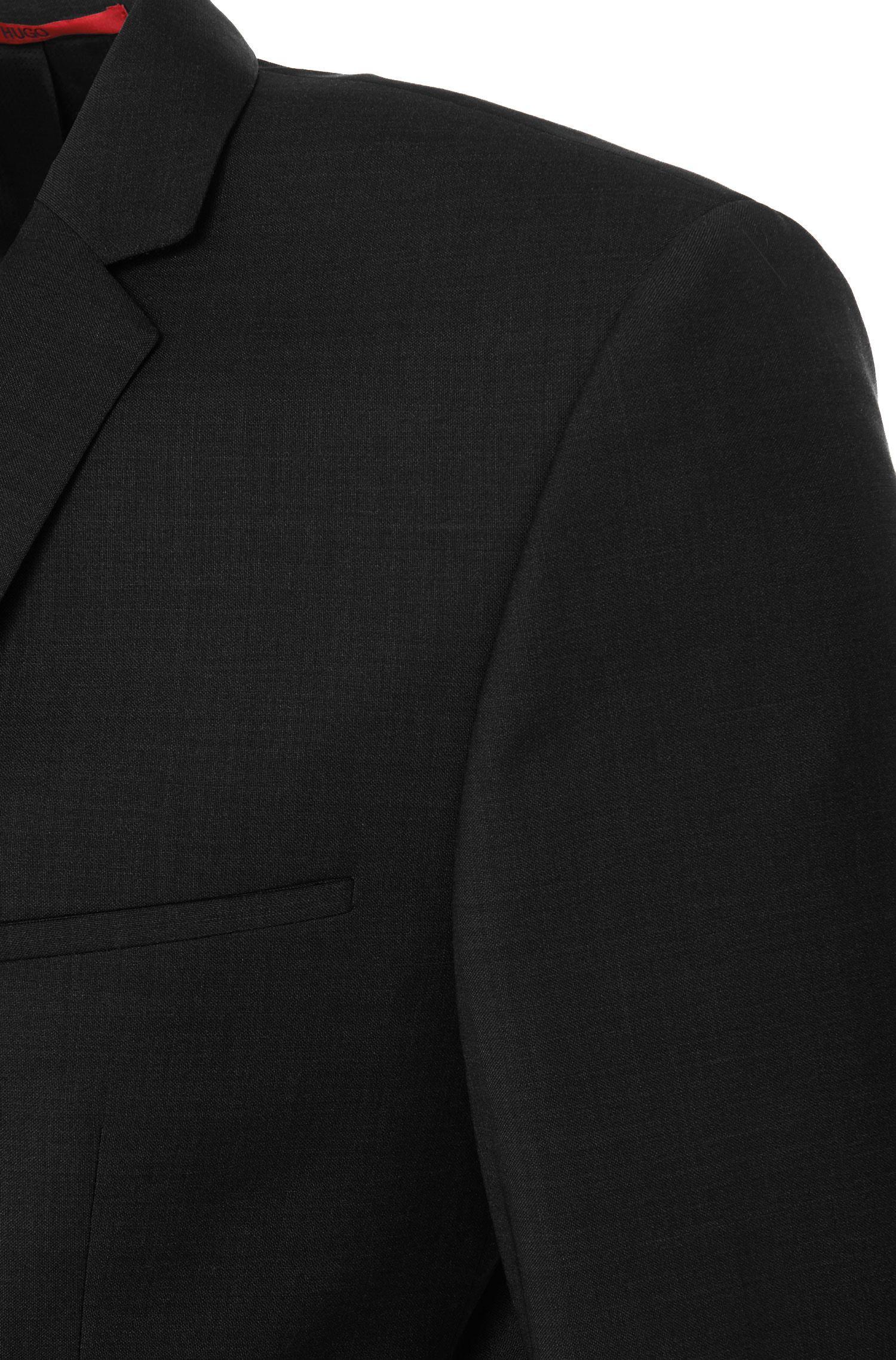 Veste de costume unie Extra Slim Fit en laine vierge: «AddyS»
