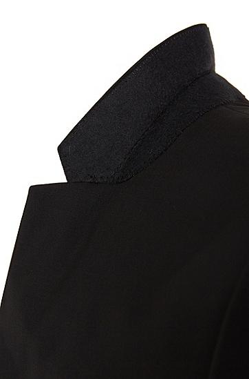 Extra Slim-Fit Sakko aus Stretch-Schurwolle: 'AddyS', Schwarz