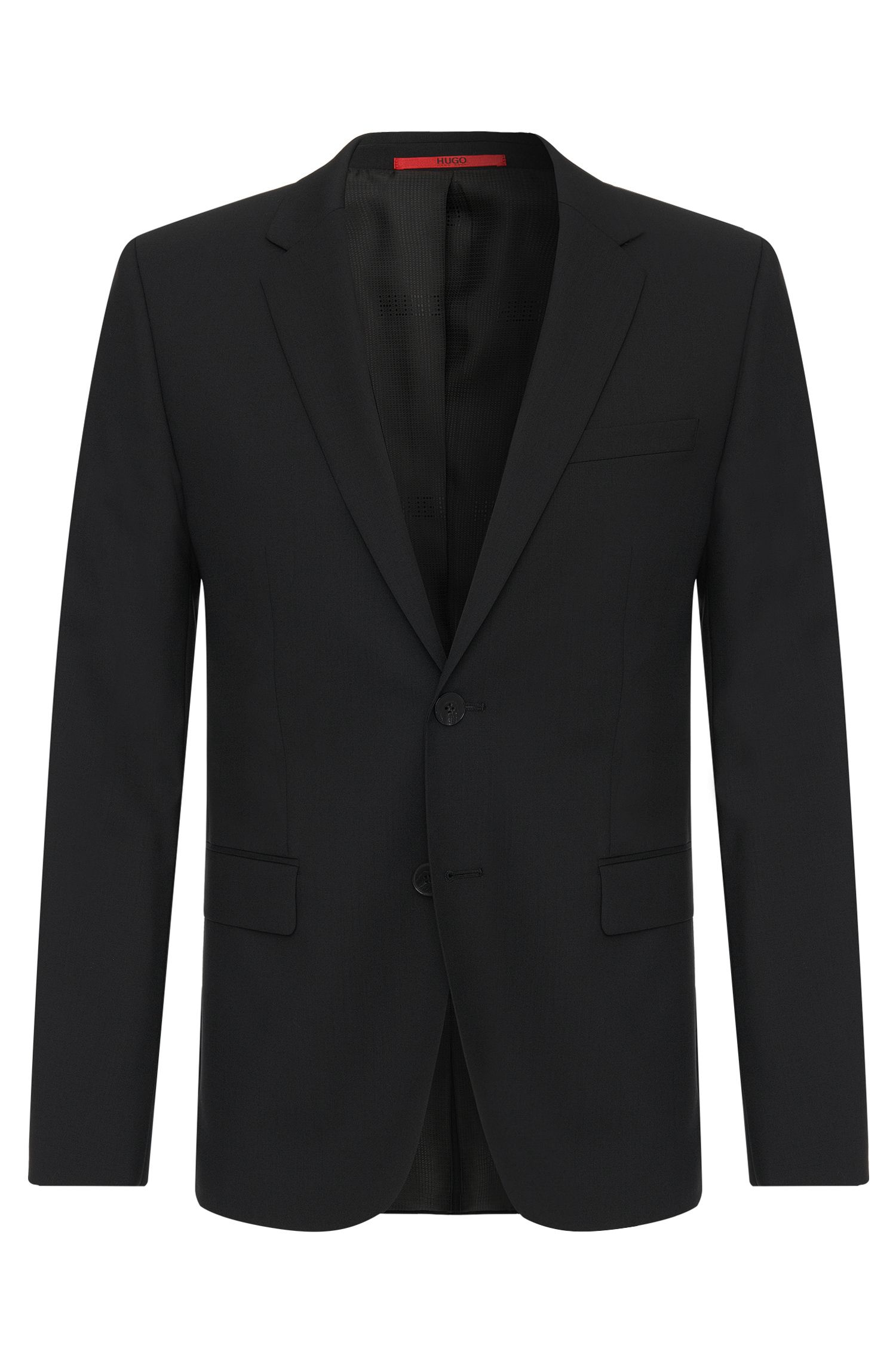 Slim-fit jacket in stretchy new wool: 'AlanS'