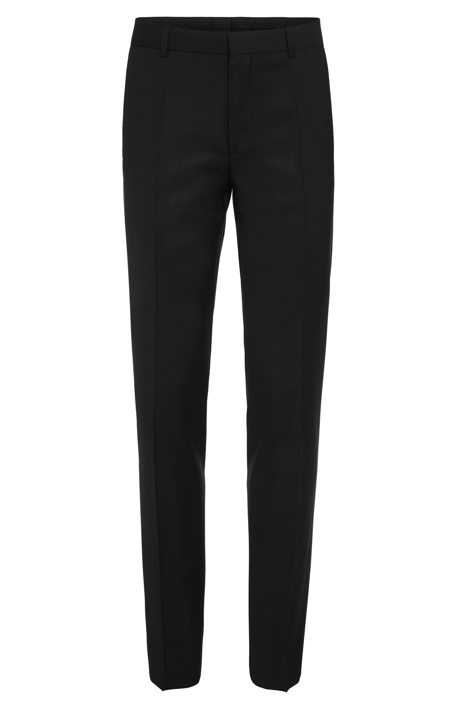 Plain-coloured slim-fit trousers in new wool: 'HardyS'
