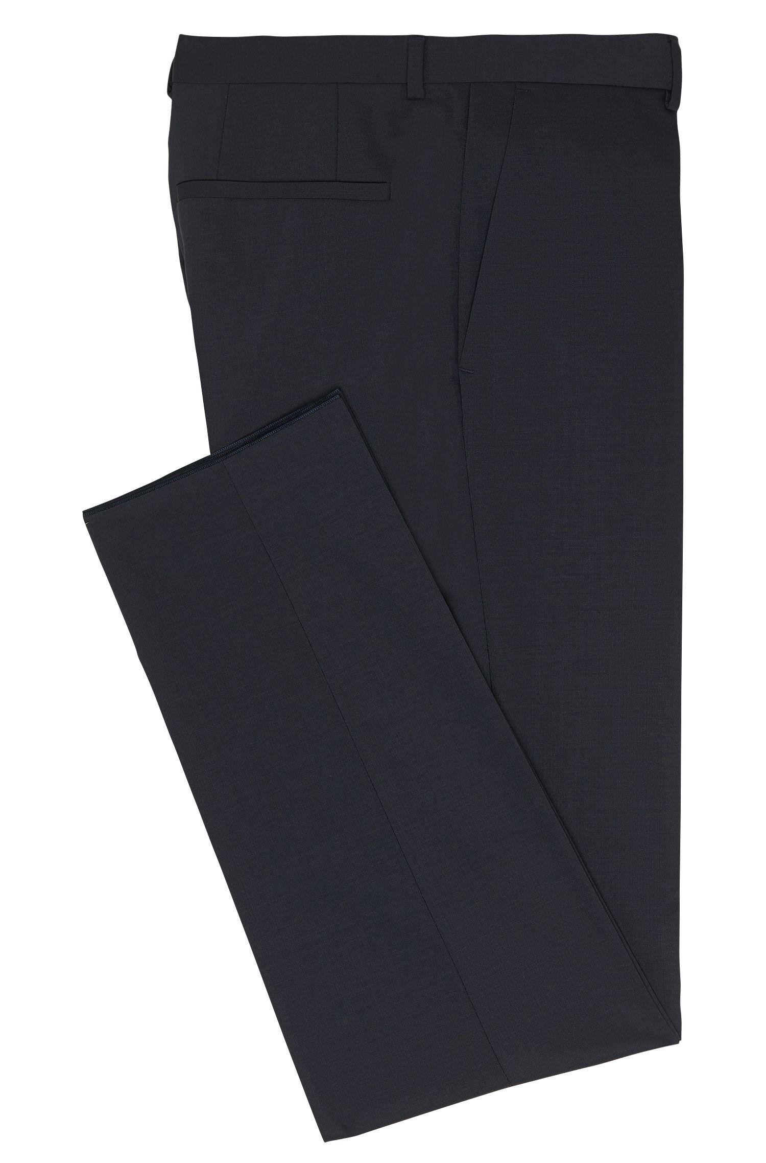 Effen, slim-fit broek van scheerwol: 'HardyS'