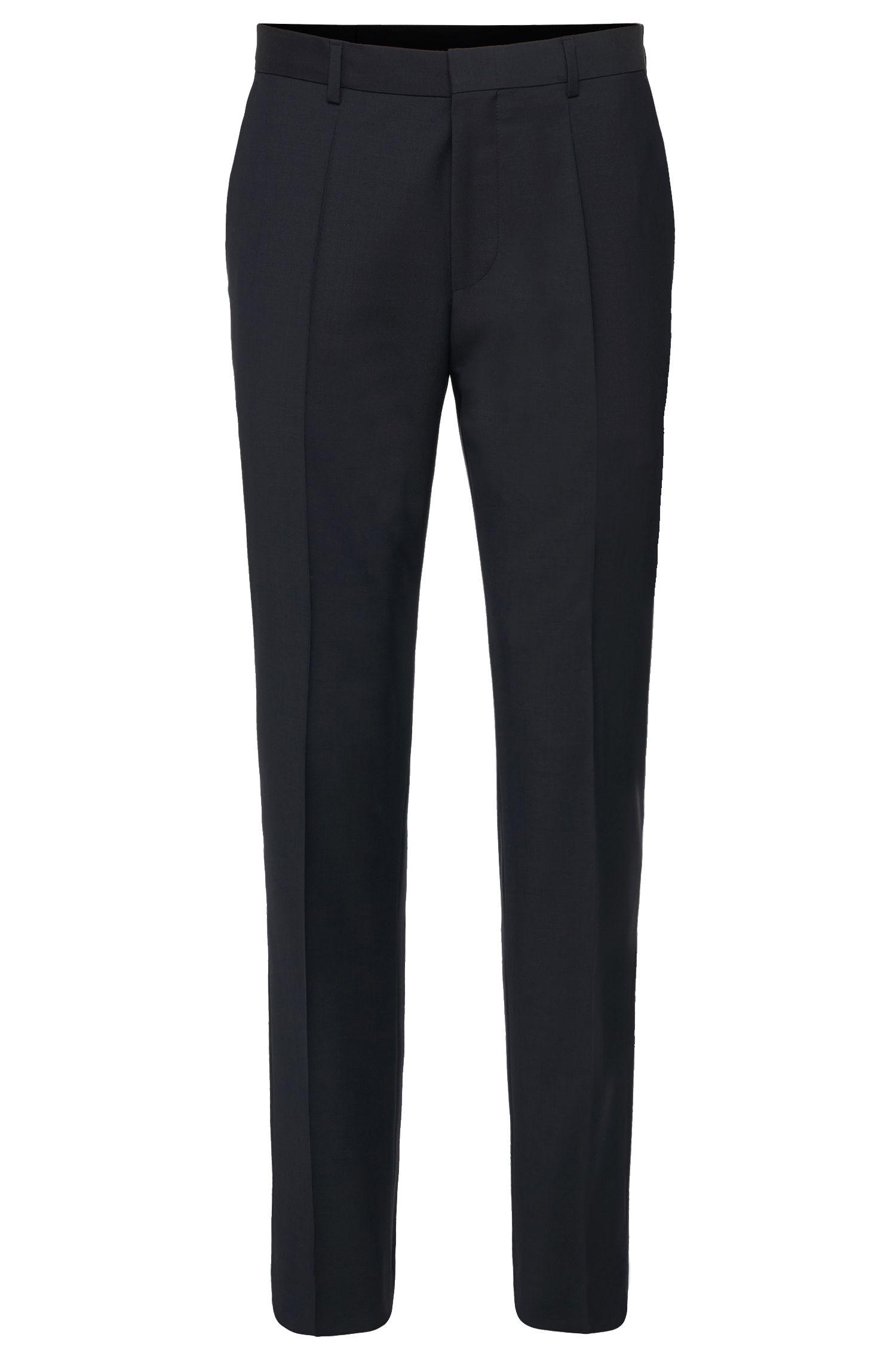 Unifarbene Slim-Fit Hose aus Schurwolle: 'HardyS'