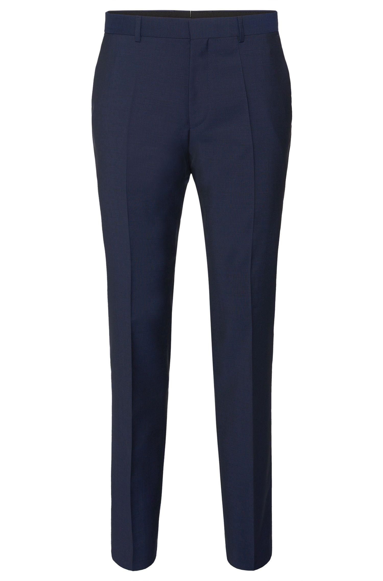 Pantalon Slim Fit en laine vierge unie: «HardyS»