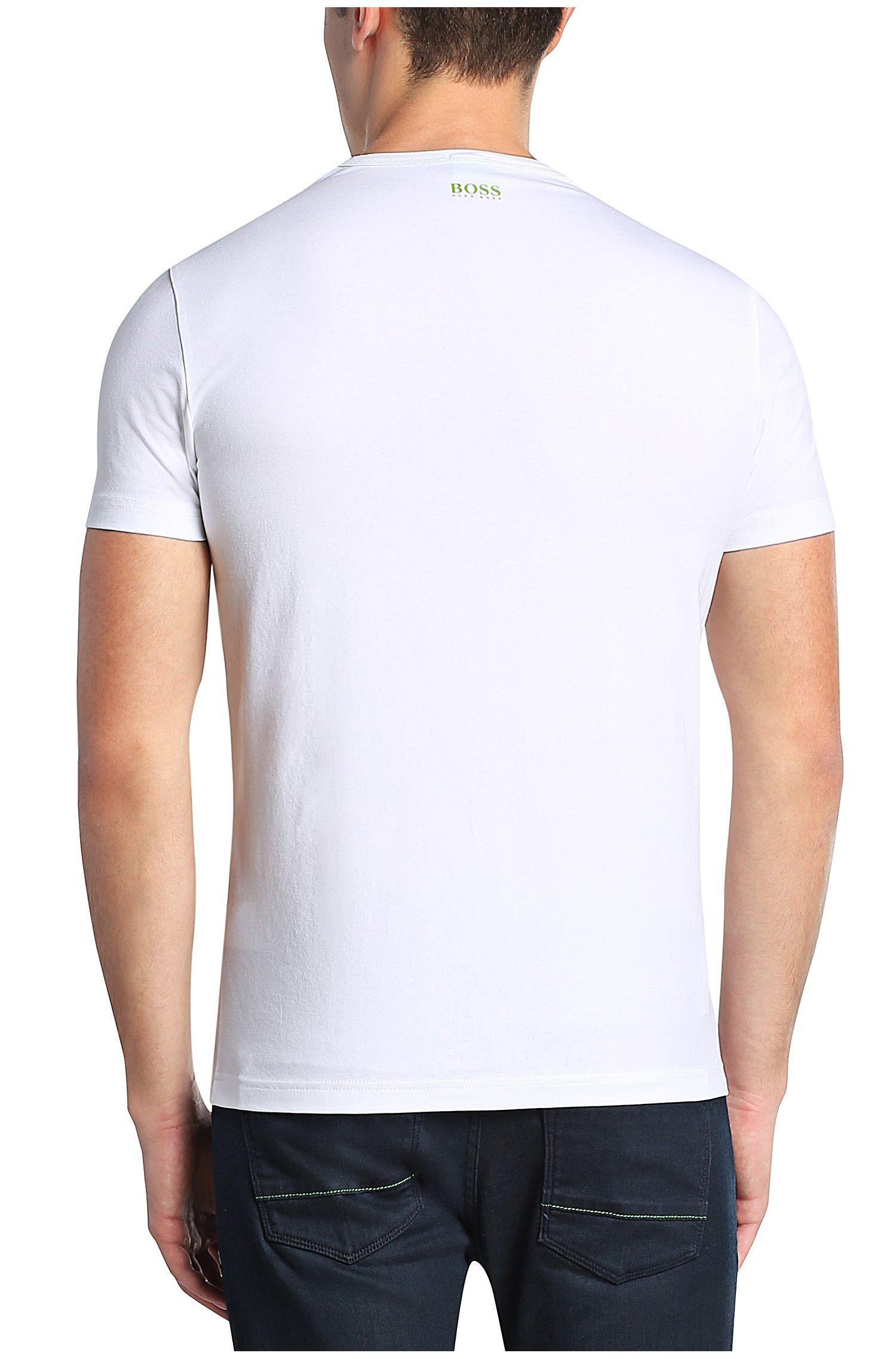 Bedrucktes T-Shirt aus elastischer Baumwolle: ´Tee 4`