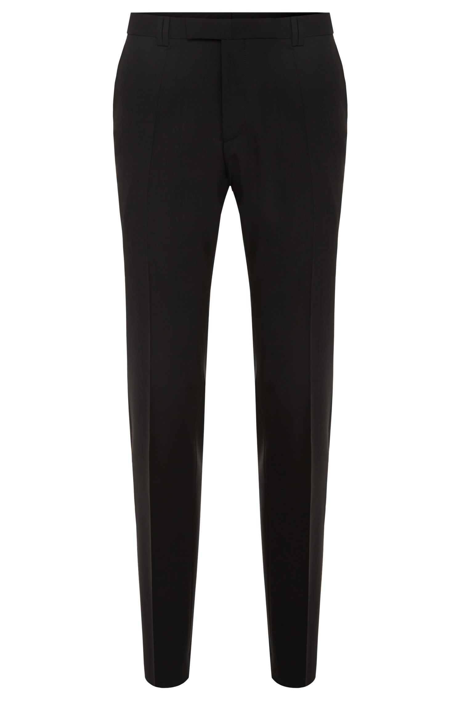 Extra-slim-fit trousers in new-wool blend with elastane: 'HopeS'