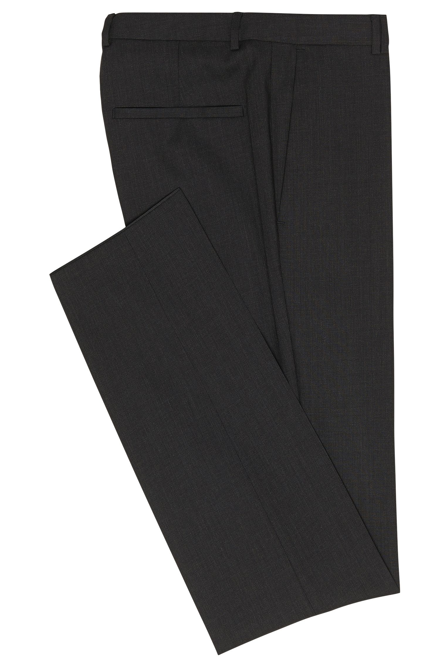 Pantalon extra Slim Fit en laine vierge à teneur en stretch: «HopeS»