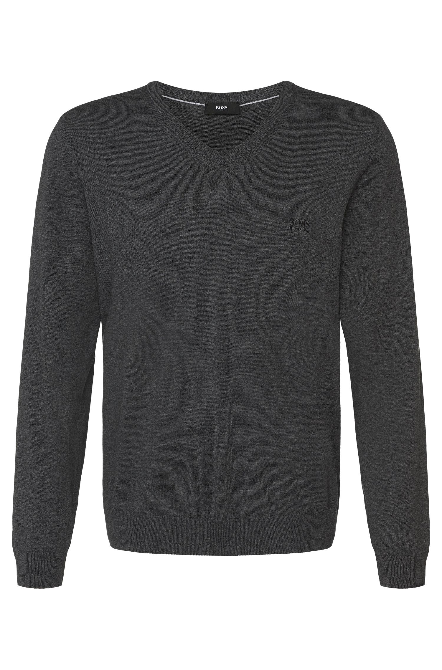 Unifarbener Pullover aus Baumwolle: 'Filipp'
