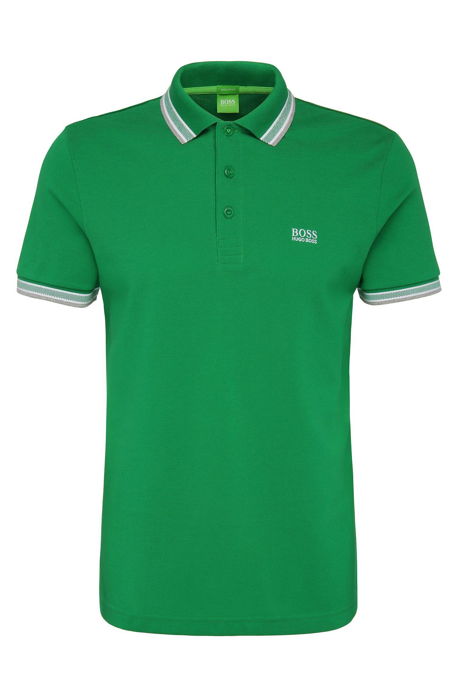 Regular-Fit Poloshirt aus Baumwoll-Piqué von BOSS Green