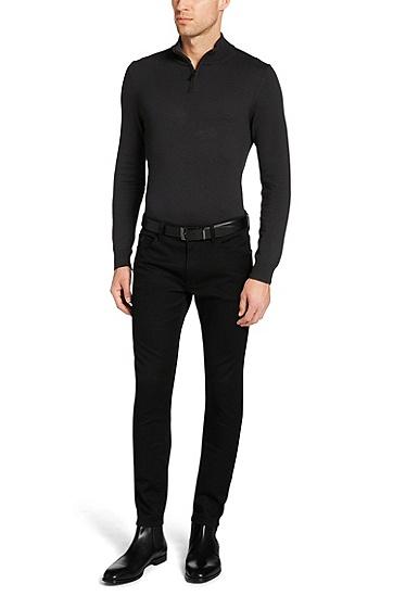 Extra Slim-Fit Jeans aus Stretch-Baumwolle: 'Miami2', Schwarz