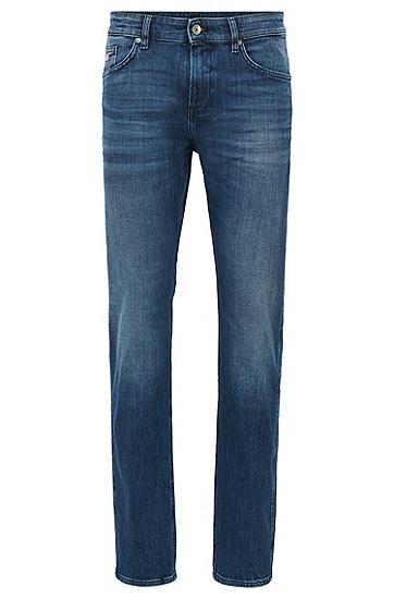 Slim-Fit Jeans aus Stretch-Baumwolle in Used-Optik: 'Delaware3', Blau
