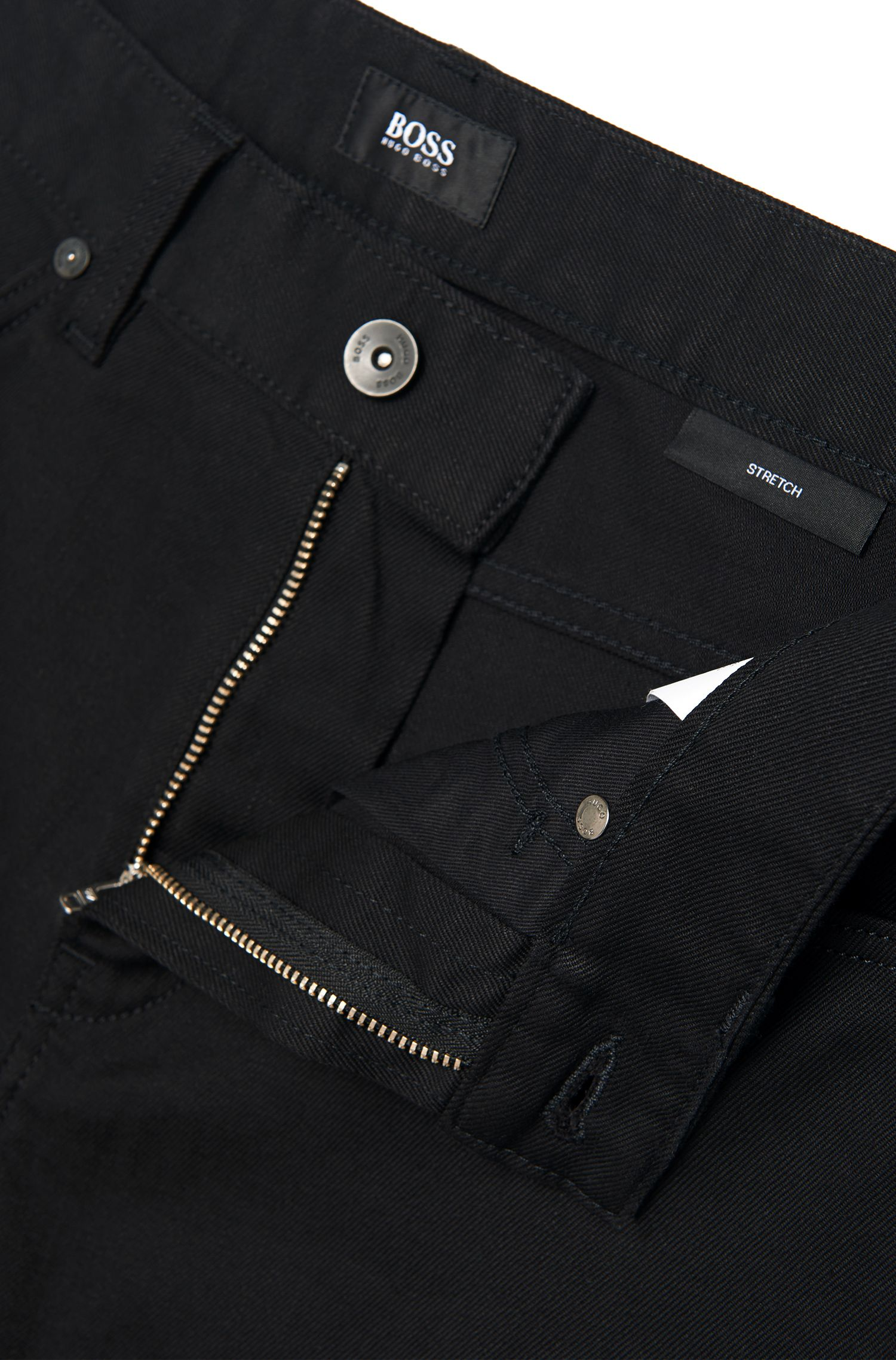 Jeans Slim Fit en coton stretch uni : « Delaware3 »