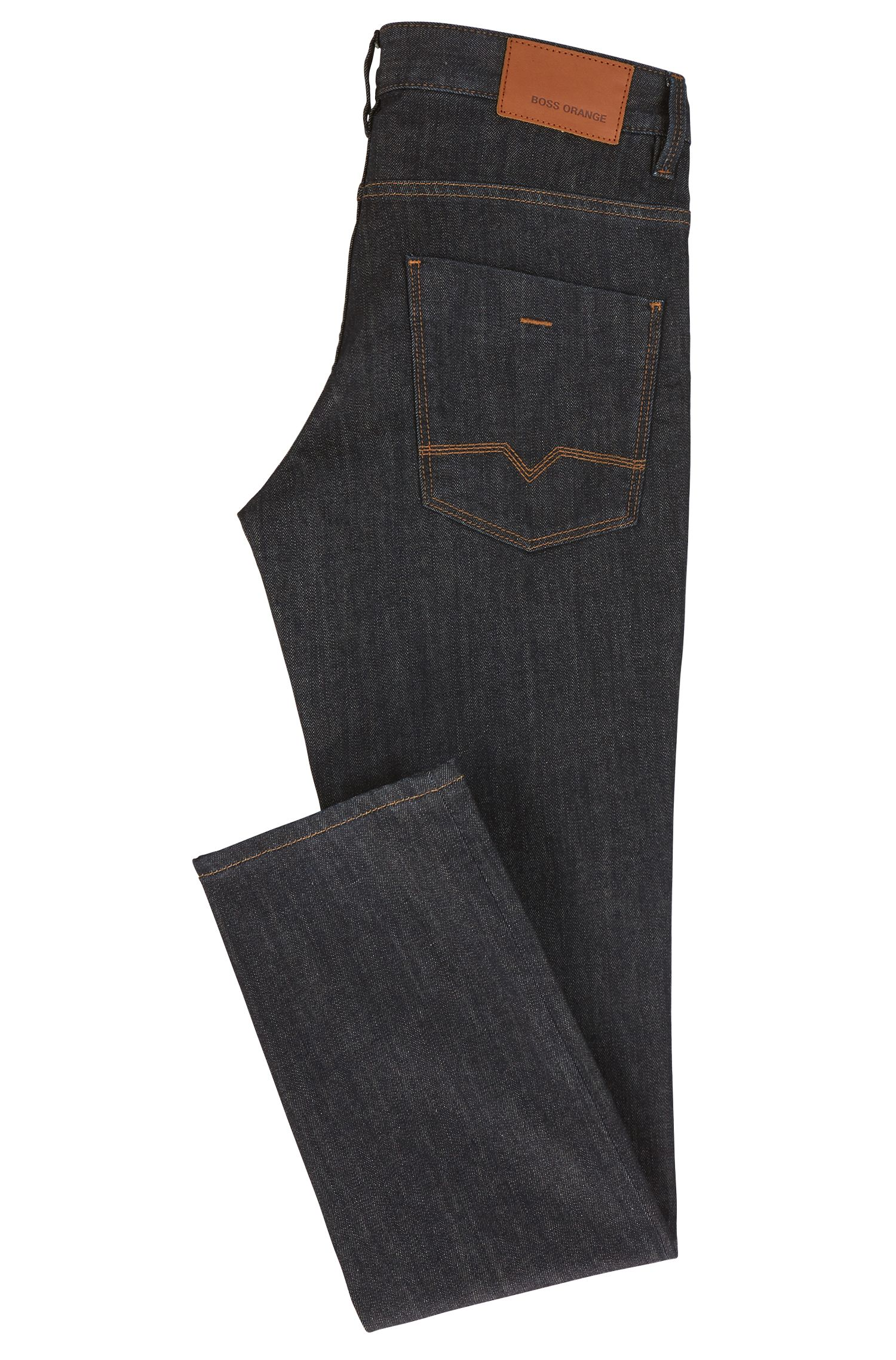 Jeans Slim Fit en coton stretch : « Orange63 »