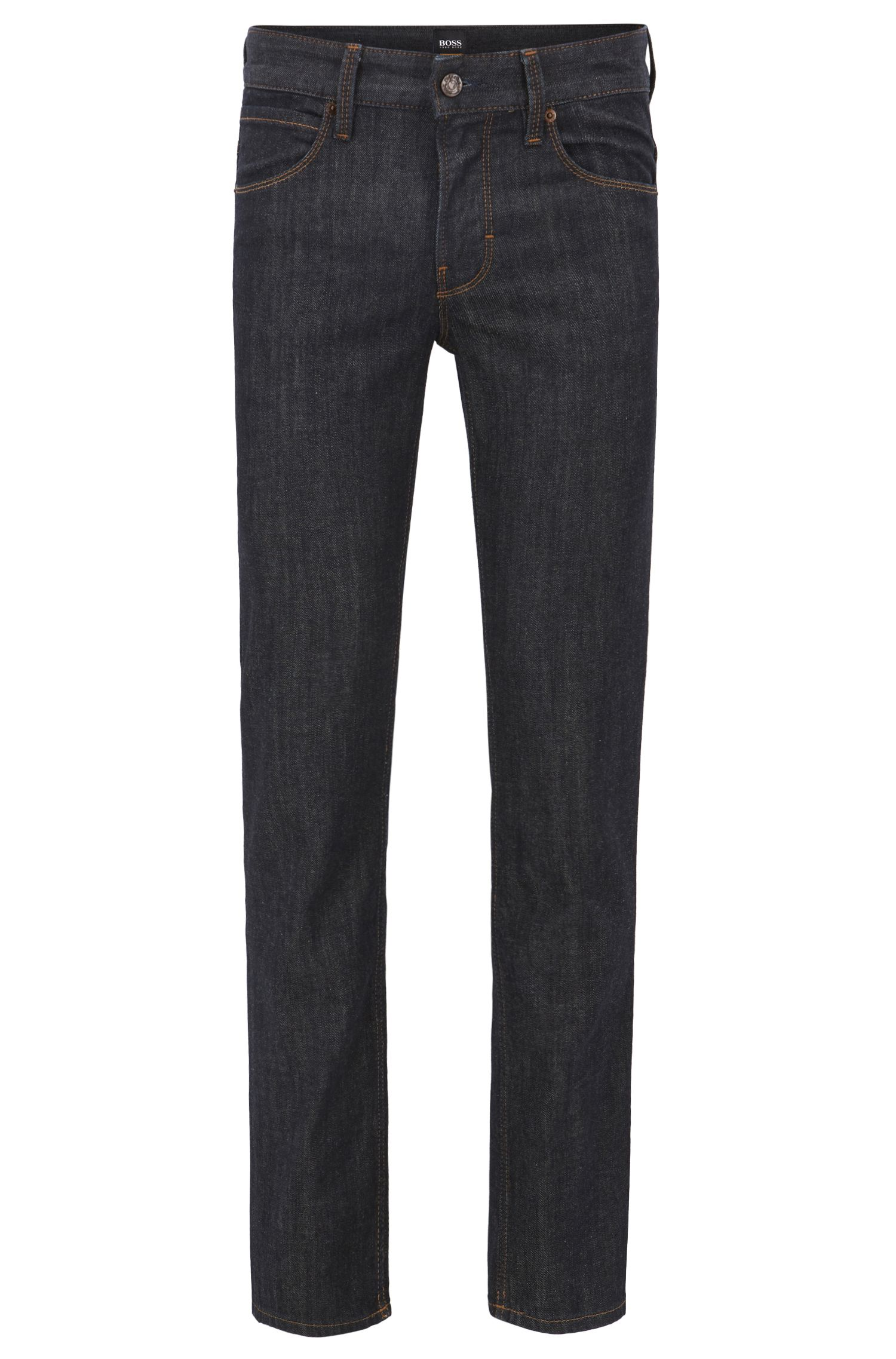 Slim-fit jeans in stretch cotton: 'Orange63'