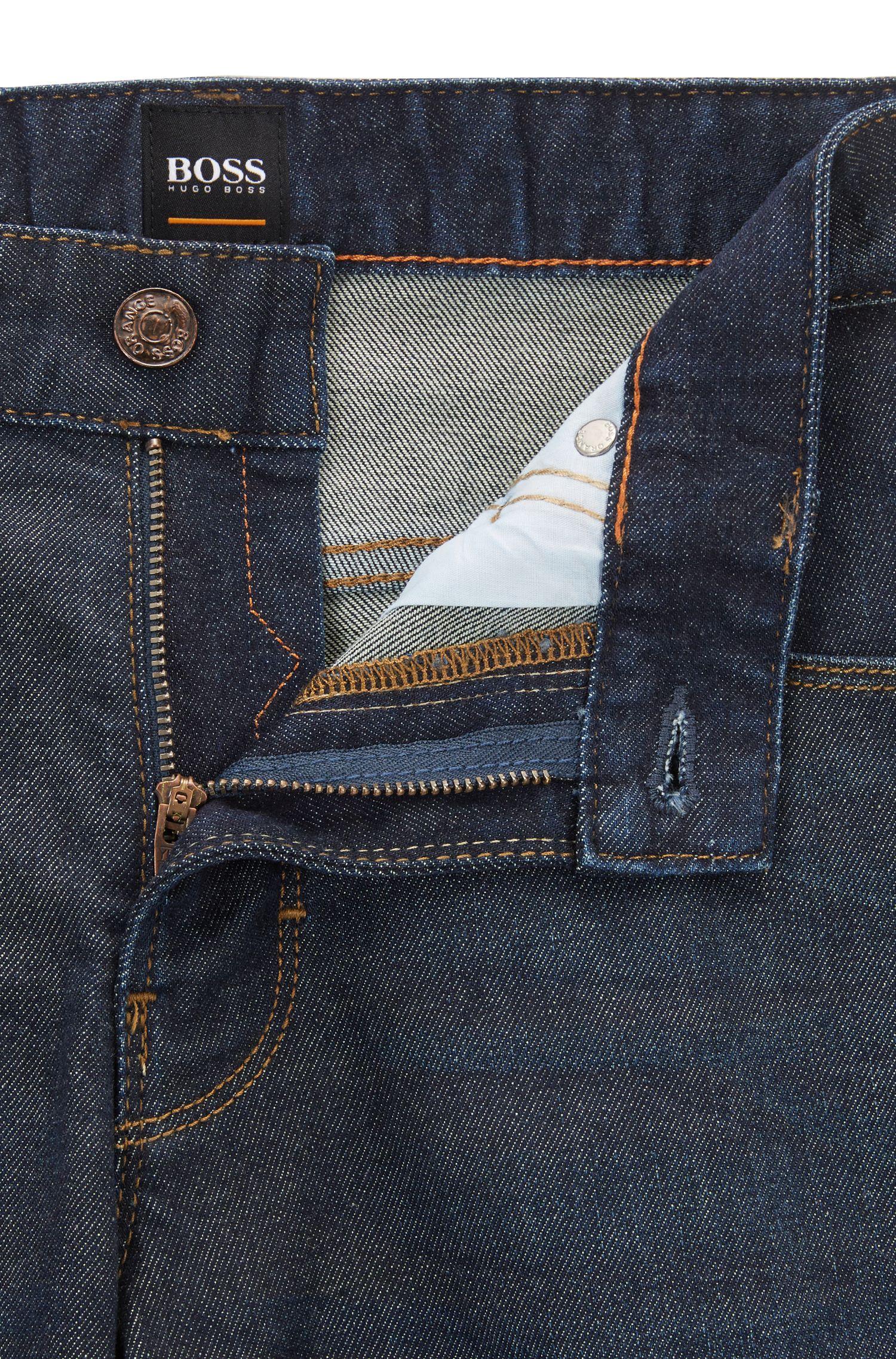 Jeans Slim Fit en coton mélangé extensible: «Orange63»