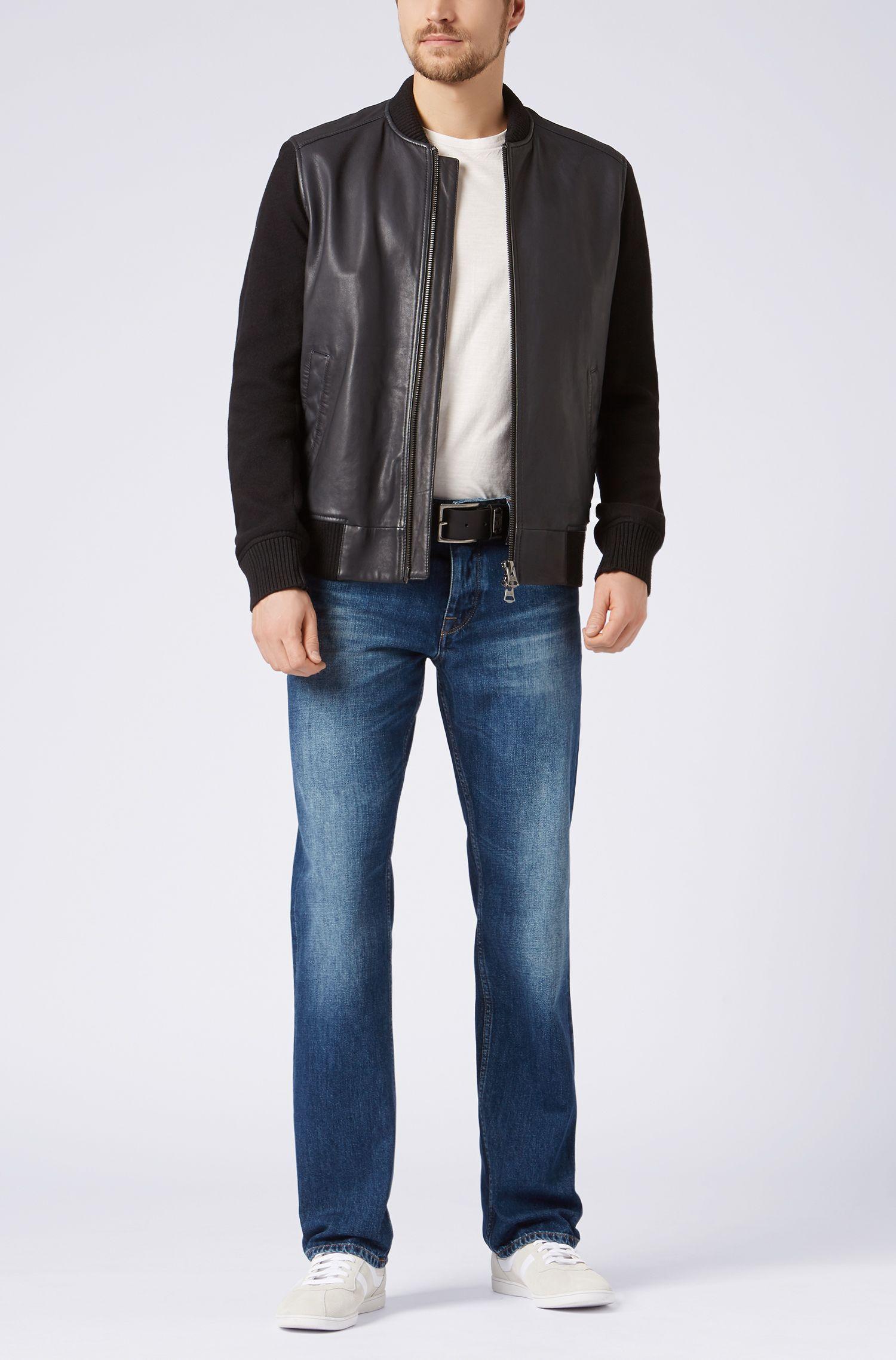 Regular-Fit Jeans aus Baumwolle im Used-Look: ´Orange25`