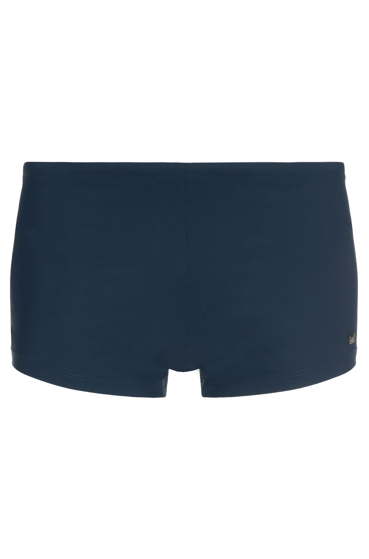 Plain swim shorts with drawstring waistband: 'Oyster'