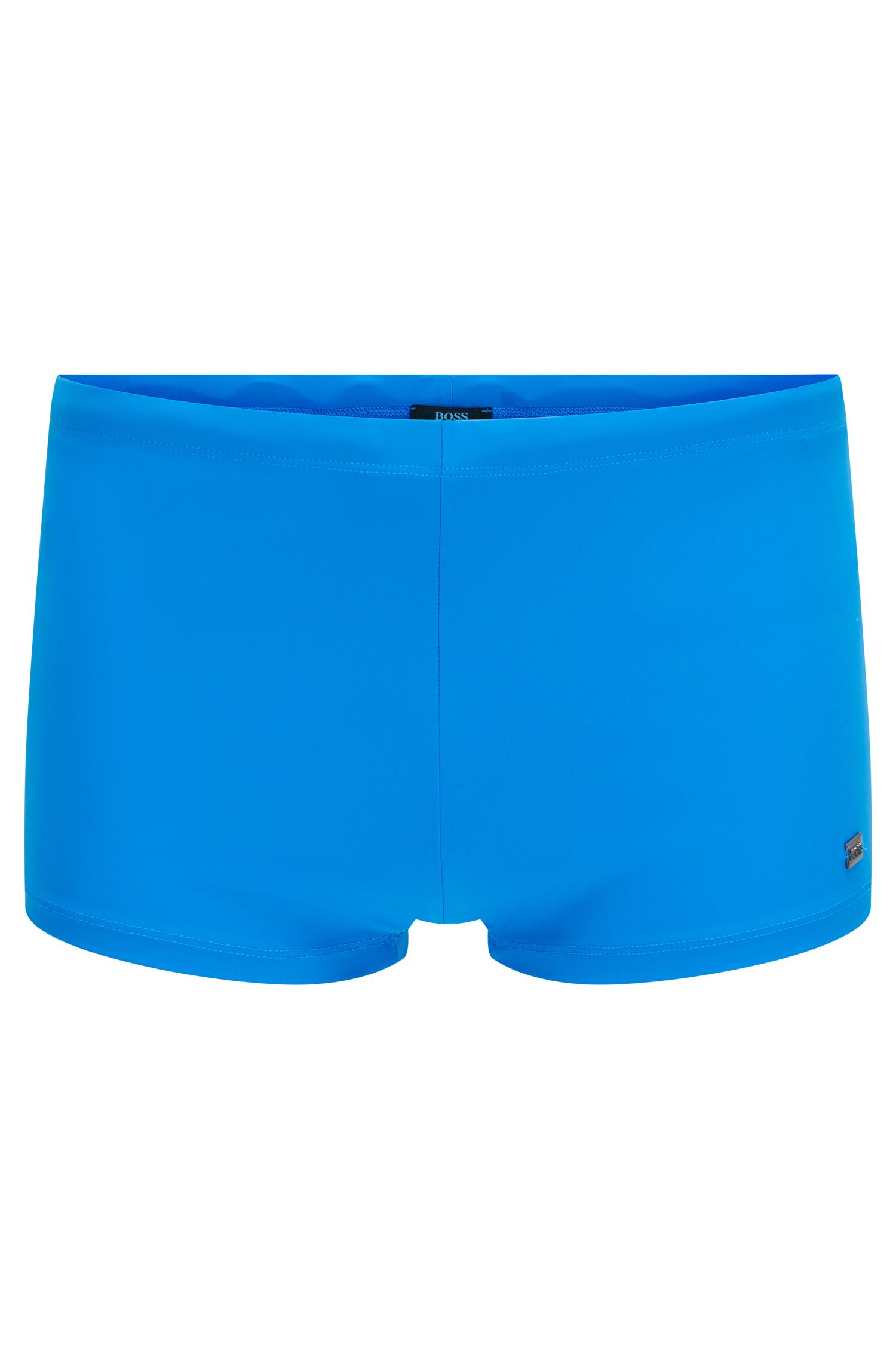 Boldly coloured swim shorts with drawstring: 'Oyster'