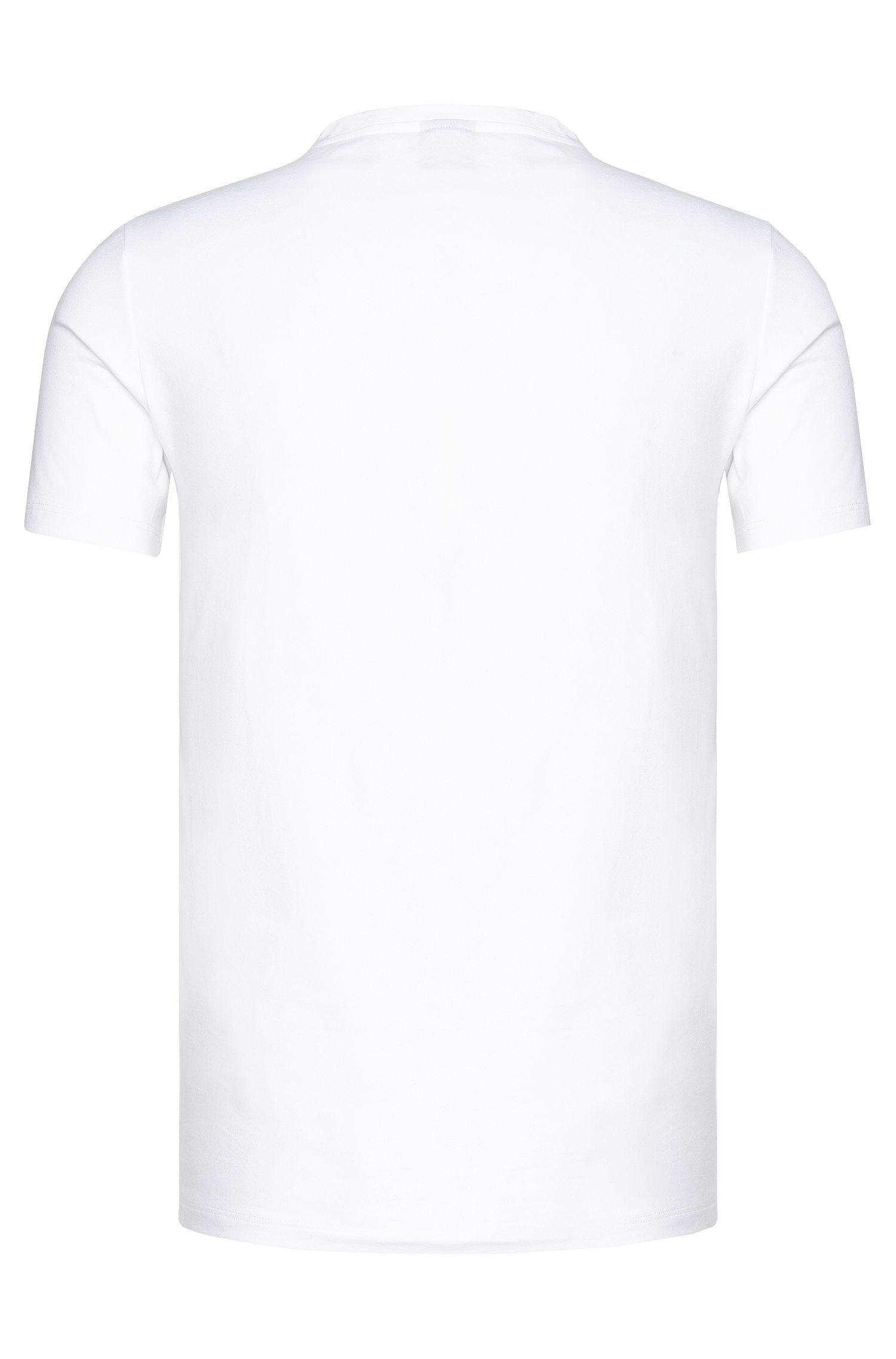 T-shirt uni en coton stretch: «Shirt Motion»