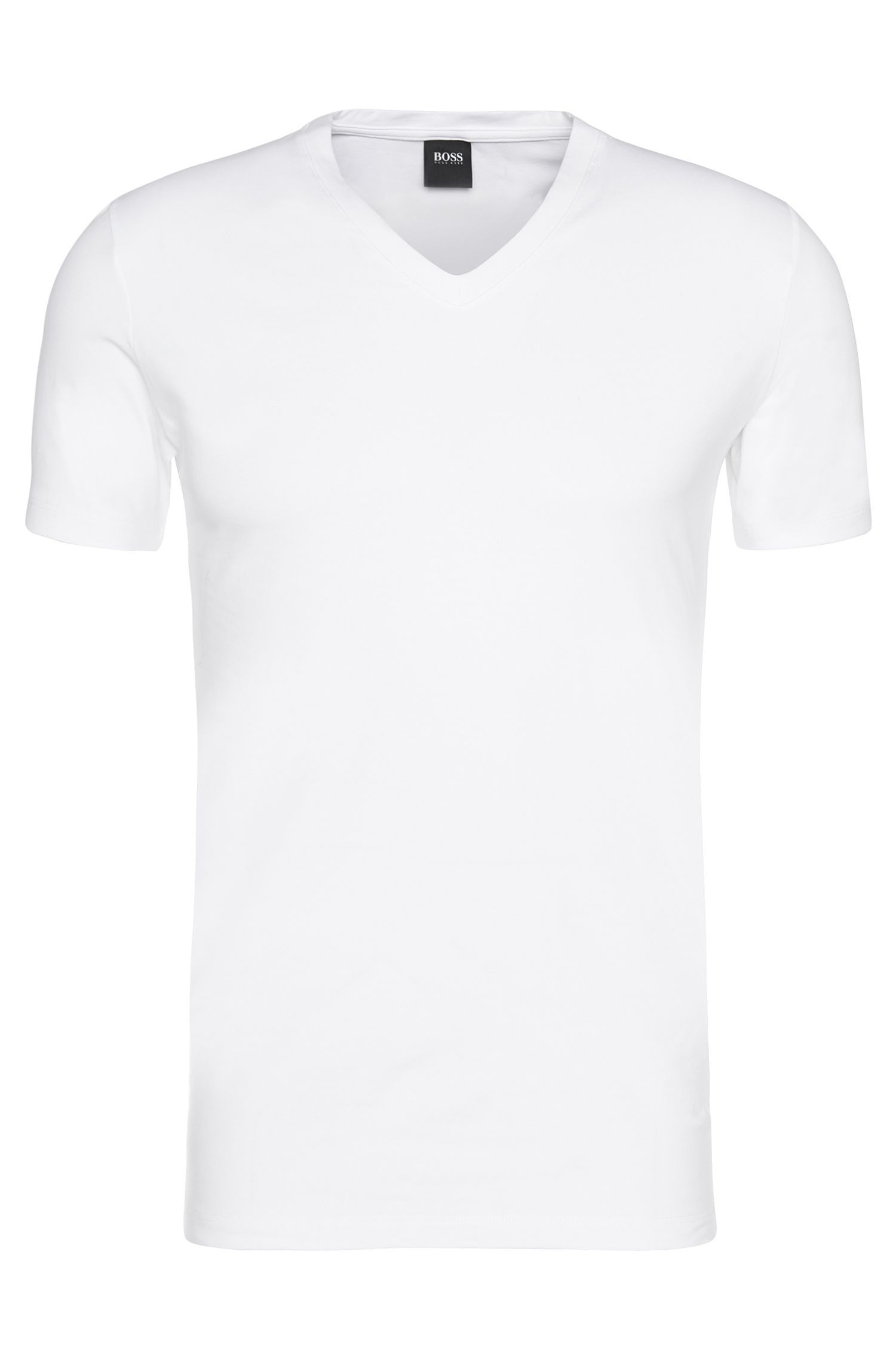 Plain-coloured t-shirt in stretch cotton: 'Shirt Motion'