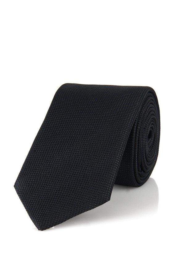 Krawatte aus Seiden-Mix: 'Tie 6 cm', Schwarz