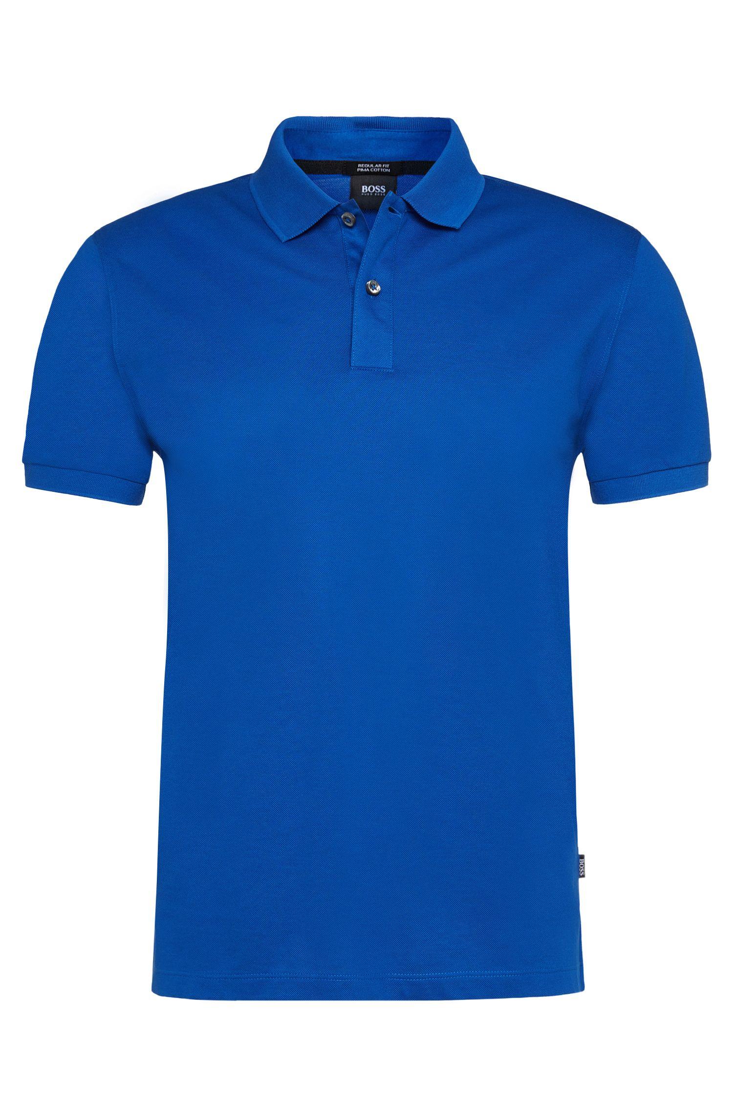 Unifarbenes Poloshirt aus reiner Baumwolle: 'Parlay'