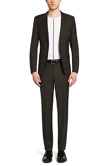 Slim-Fit Anzug aus Schurwolle: 'Aeron2/Hamen2', Hellgrün