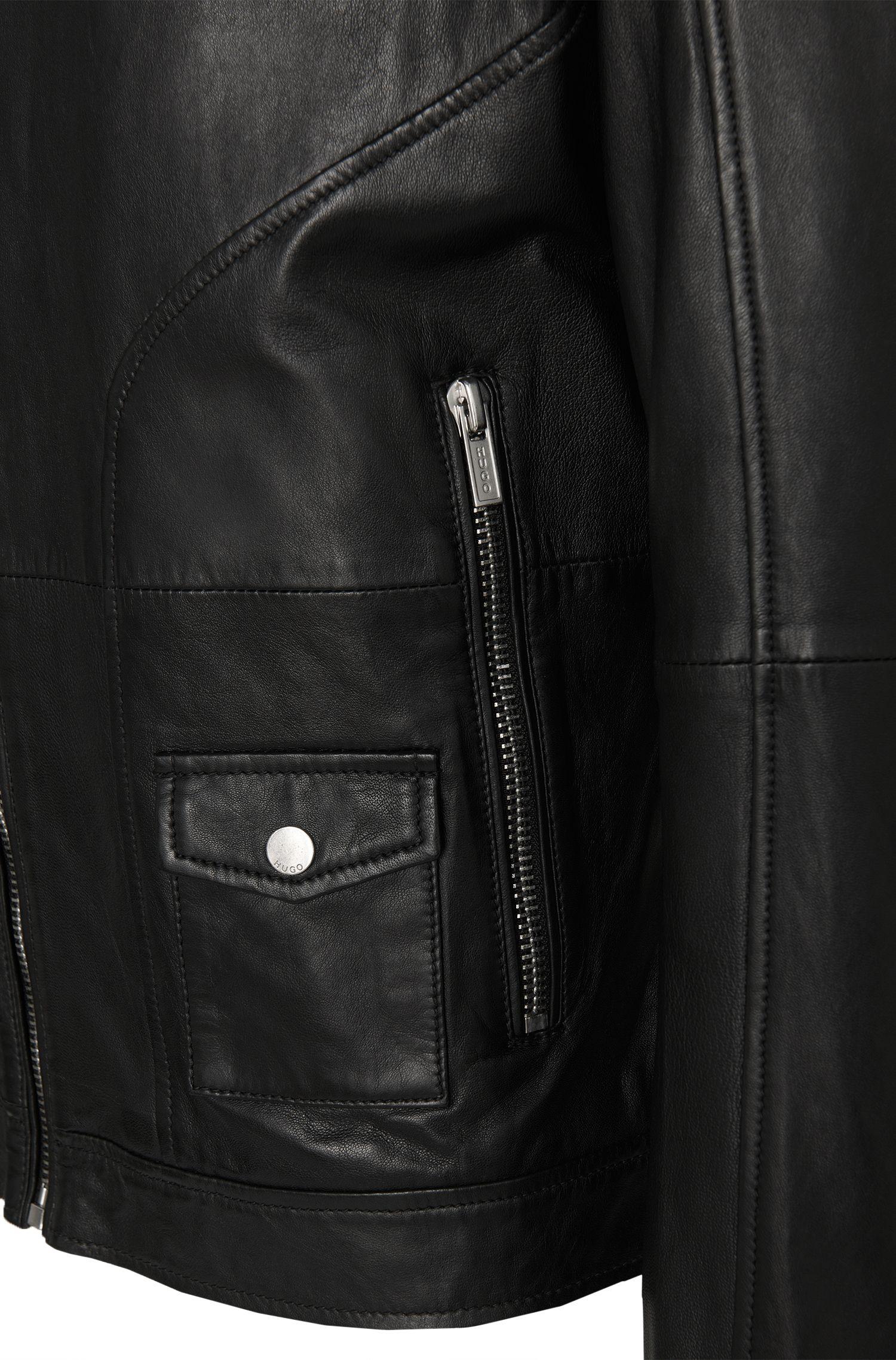 Slim-Fit Lederjacke im Biker-Stil: 'Lexner'
