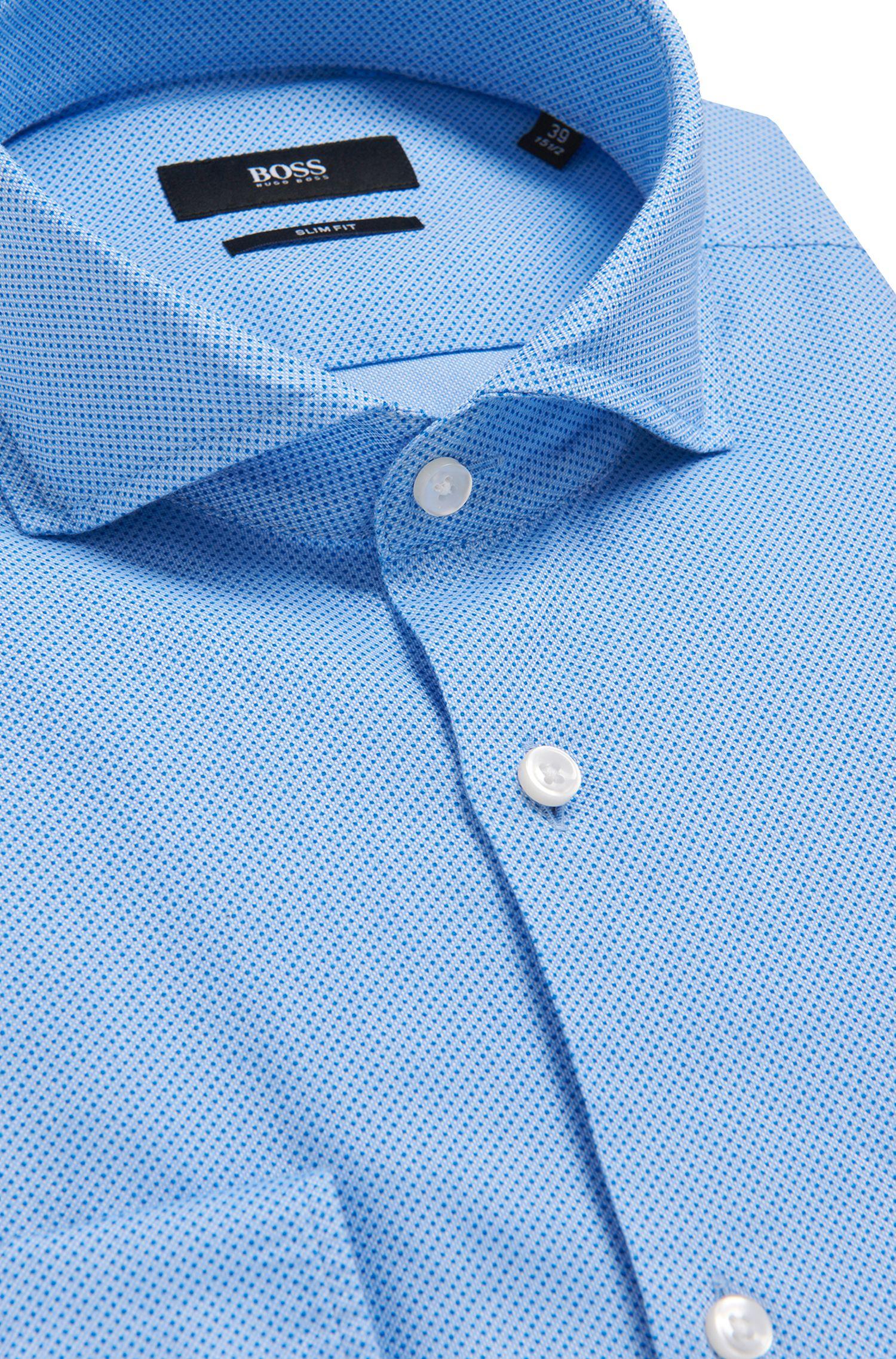 Gepunktetes Slim-Fit Hemd aus Baumwolle: 'Jaxon'