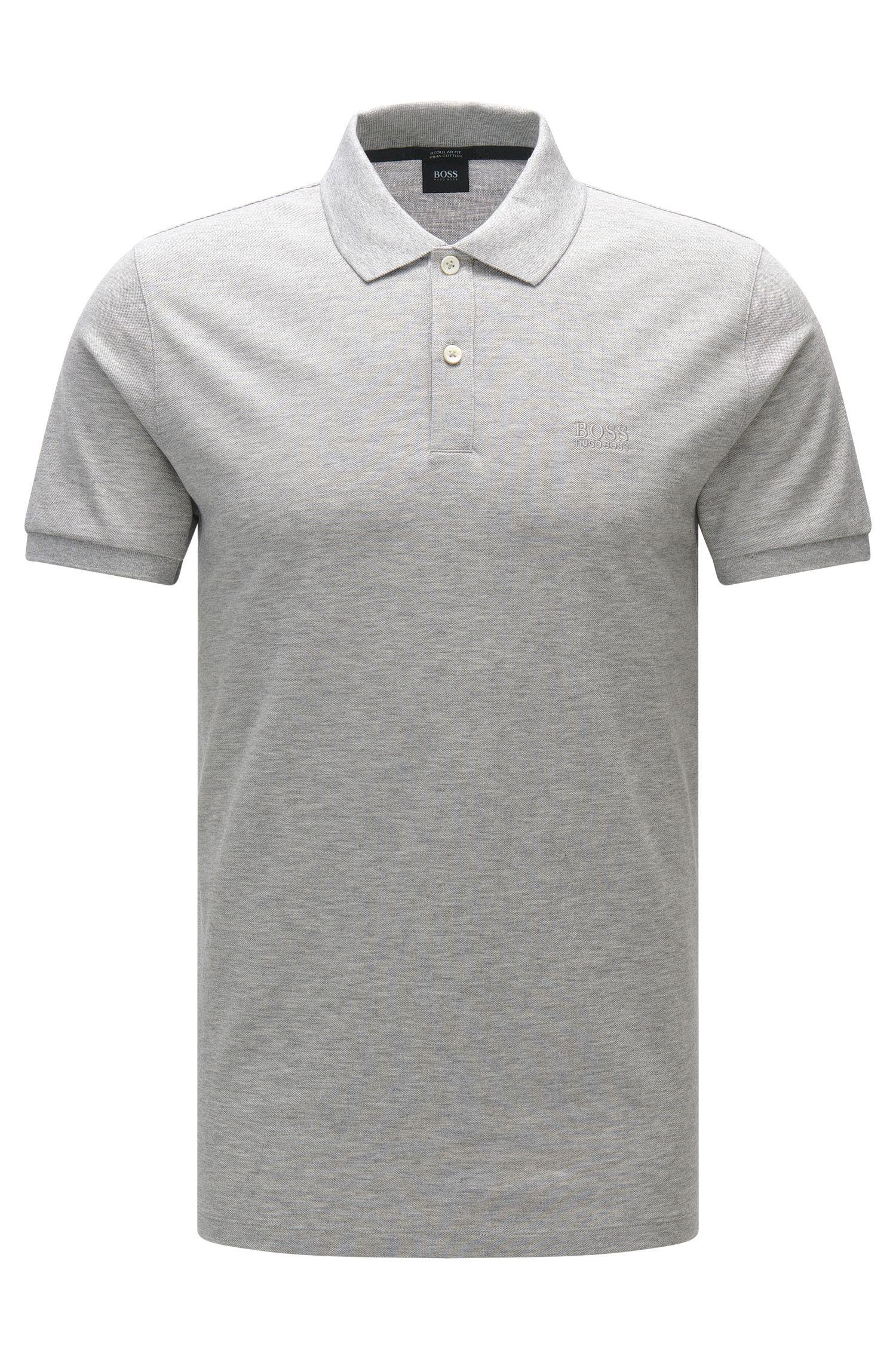 Regular-fit polo shirt in fine piqué by BOSS Menswear