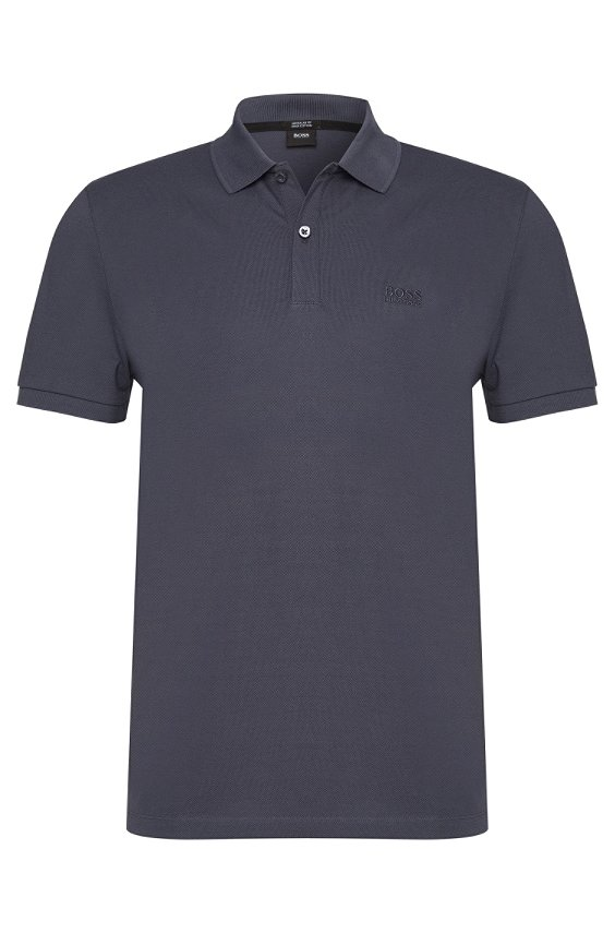 Regular-Fit Poloshirt aus Baumwolle: 'Pallas', 422_Blue