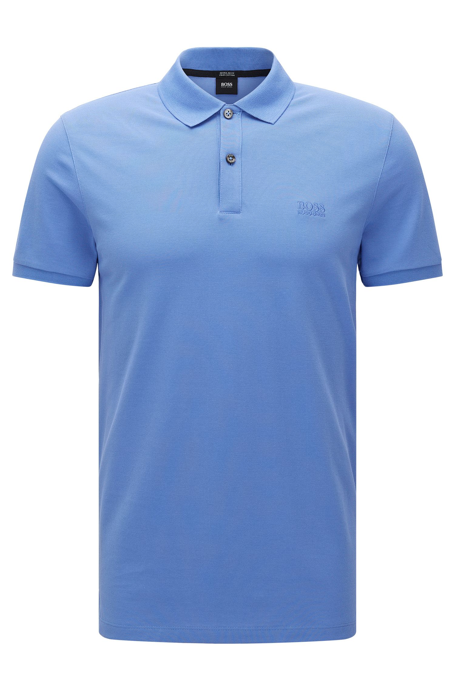 Polo BOSS Homme Regular Fit en piqué fin