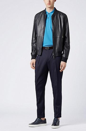 常规版凸纹布polo衫,  492_淡蓝色