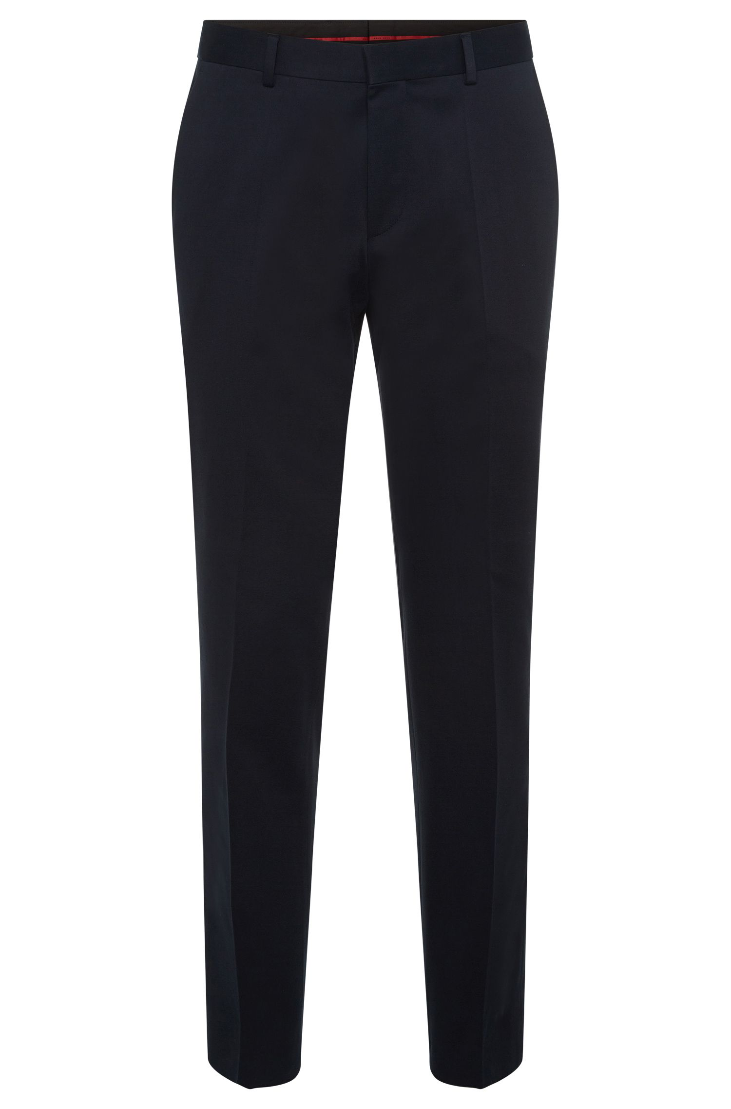 Pantalon uni Slim Fit en coton stretch : « C-Genesis »