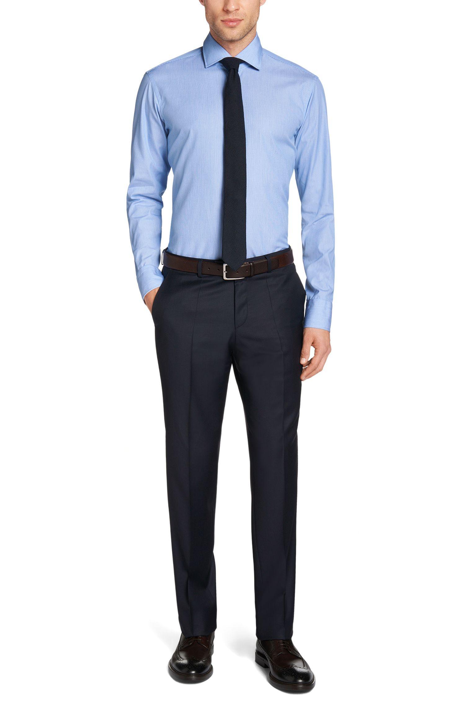 Gestreept, regular-fit overhemd van gemakkelijk te strijken katoen: 'Gregory'