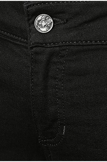 Slim-Fit Jeans aus elastischem Baumwoll-Mix: ´Orange J20`, Schwarz