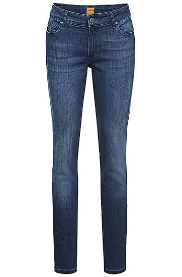 Slim-Fit Jeans aus Stretch-Baumwolle: ´Orange J20`, Dunkelblau